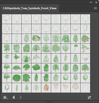 Tree symbols for Adobe Illustrator - No-Nonsens inc